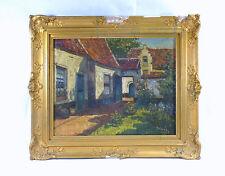 Altes Gemälde / Bild Im Rahmen Belgien um 1900 signiert Ölbild