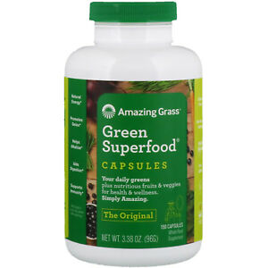 Amazing Grass, Green Superfood, 150 Capsules same day dispatch