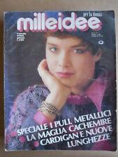 MILLEIDEE n°1 1986 - rivista di moda e lavori femminili  [C54]