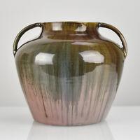 Antique German Art Nouveau Pottery Vase Burgel Henry van de Velde School