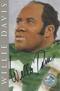 Willie Davis Green Bay Packers  Autographed Silver Ron Mix Hall of Fame Card