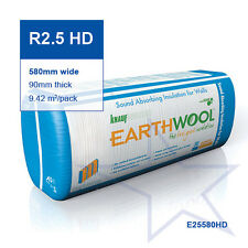 R2.5 HD | 580mm Knauf Earthwool® Acoustic Wall Insulation Batts