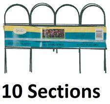 "(10) ea Panacea 89318 10"" x 10' ft Green Arch Top Garden Border Fence Fencing"