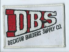 Decatur Builders Supply Co employee patch 2-7/8 X 4-1/2 #1913