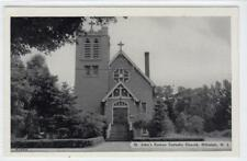 ST. JOHN'S ROMAN CATHOLIC CHURCH, HILLSIDE: New Jersey USA postcard (C30986)