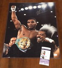 Mike Tyson Signed WBO World Champion 16x20 Photo w/ Don King JSA COA