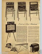 1952 PAPER AD Toy Dispenser Coca Cola Plastic Sewing Machine Accordian Chromatic