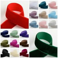 Velvet Ribbon - 9mm 18mm 25mm - Neat Edge Wedding Christmas Crafts