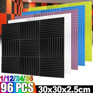 Acoustic Wall Panel Tiles Foam Studio Sound Proofing Noise Insulation Foam 30x30