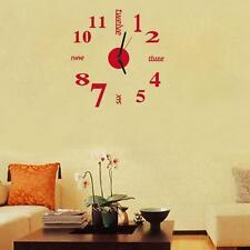 Modern DIY 3D Wall Sticker Clock Home Office Room Decor Art Design Creative Gift