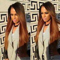 Brazilian Straight Human Hair Wigs Ombre Blonde Lace Front Wigs Full Lace Wig