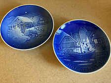Copenhagen Porcelain (set of two) 1975 & 1976 Christmas Plates