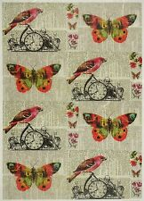 Papel De Arroz Mariposas & Aves Para Decoupage Decopatch Scrapbook Craft Hoja