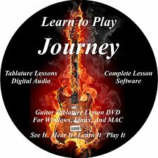 Journey Guitar TABS Lesson CD 30 Songs + Backing Tracks + BONUS!!!