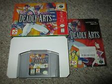 Deadly Arts (Nintendo 64 n64, 1998) Complete in Box GREAT