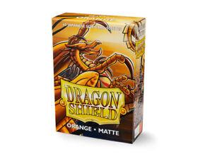 Japanese Matte Orange Case Display Dragon Shield Sleeves - 10x 60 ct Packs