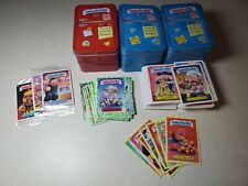 Garbage Pail Kids Food Fight Card Lot Yellow Green Blue Red Tins Box OPENED