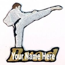 Karate Male Custom Iron-on Patch With Name Personalized Free