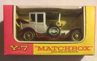 Lesney MATCHBOX Models Of  YesterYear No Y7-3 1912 Rolls-Royce with Original Box