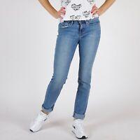 Levi's 712 Slim Fit Blau Damen Jeans DE 34 / US W27 L32