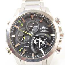 Mens Casio Edifice wrist watch Tough Solar Bluetooth Chronograph EQB-500