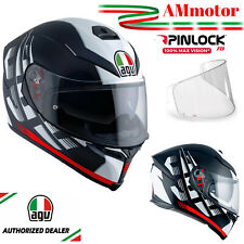 Casco Integrale Agv K5 S Darkstorm Matt Black Red Moto Tg MS Max Pinlock 2020
