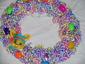 "Large 17"" Easter Wreath Curled Ribbon"