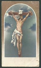 Estampa antigua de Jesus en la Cruz andachtsbild santinno holy card santini
