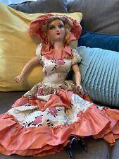 Vintage 1930s boudoir Compositon Doll