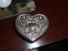 godiner heart shape box silver look design on top neat trinket box VALENTINES