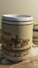 Vintage texas mug western cowboy steer longhorn