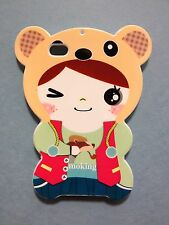 NEW Japanese Cartoon Cute Bear Suit Super Cute Fun iPhone 4 4s Cover