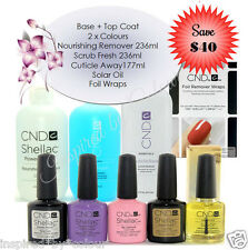CND Shellac x 4  + Scrub Fresh + Offly Fast +Cuticle Away + Solar Oil + Foils