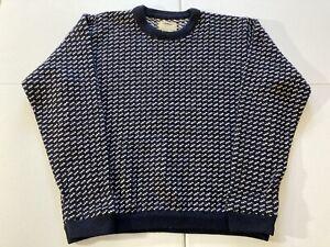 Vintage LL Bean Norwegian Fisherman Birdseye Sweater Norway Mens Size XL Tall