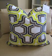 """NWT Trina Turk Residential Pillow Embroidered Mod Geometric """"OGEE"""" 20"""" x 20"""""""