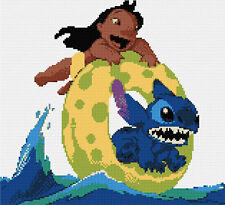 Lilo & Stitch - At The Beach Counted Cross Stitch Kit Disney/Film characters