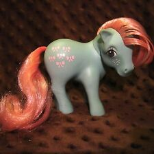 VTG G1 My Little Pony Bow Tie Freckles MLP Hasbro 1983 Flat Foot Blue w/Pink GUC