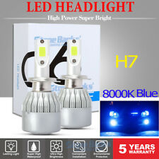 2PCS H7 Ice Blue 8000K LED Headlight Conversion Kit High Low Beam Fog Light Bulb