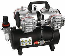 Airbrush Kompressor Vierzylinderkompressor AS-48A Airbrush 4 L Lufttank Neuware