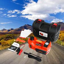 Electric Tire Tool Kit 5 Ton Hydraulic Car Jack Tire Inflator Pump Set 12v