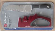 NEW- WÜSTHOF SANTOKU KNIFE AND SHARPENER - GERMAN MADE - FREE SHIPPING