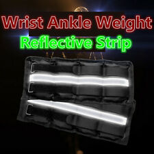 2PCS 0.5-2KG Reflective Strip Ankle Weights Wrist Straps Running Boxing Braclets