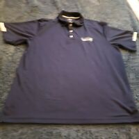 Seattle Seahawks Polo Shirt Large Majestic