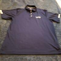 Seattle Seahawks Polo Shirt Large Majestic