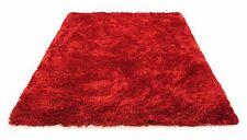 HAND WOVEN - LUXURY MODERN HEAVY PLUSH SOFT SHAGGY RUG, 230 x 150CM, RED