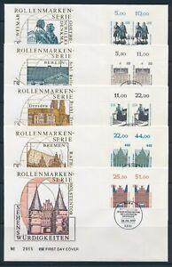 Deutschland Ersttagsbrief Mi-Nr: 1934-1938 Oberrand-Pärchen, Sehenswürdigkeiten