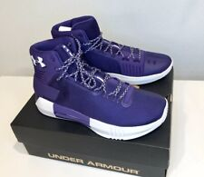 Under Armour Men's Drive 4 TB Purple/Purple-White Size: 11.5 1303010-501