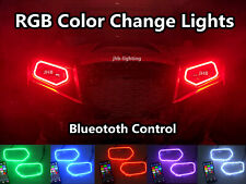 JHB RGB Color Change Bluetooth LED Headlight Halo Rings Set for RZR 800 【D-01】