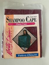 Betty Dain Vintage Vinyl Shampoo Cape Maroon Red Velcro Closure NEW