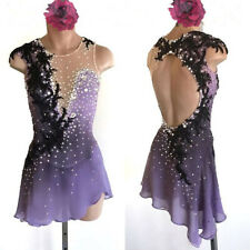 Stylish  Ice Figure Skating Dress Baton Twirling Dance Dress Custom size h154